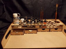 WORK STATION VALLEJO PAINT RACK AND DRAWERS