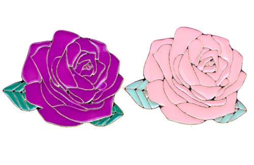 dos colores Tono Oro Esmalte Rosa Broche//Pin