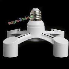 4 in 1 E27 Buchse Lampe Licht Glühbirne Splitter Adapter Dochthalter