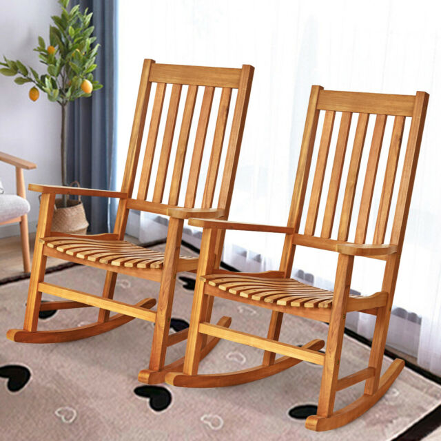 In Outdoor Relaxed Seat Wood Single Porch Rocking Chair Rocker For Room Patio Us For Sale Online Ebay