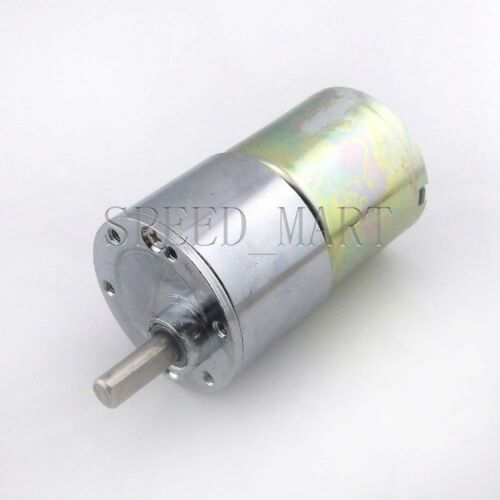 Reversible 37mm 12V DC 100RPM Gear-Box Speed control Electric Motor Low noise
