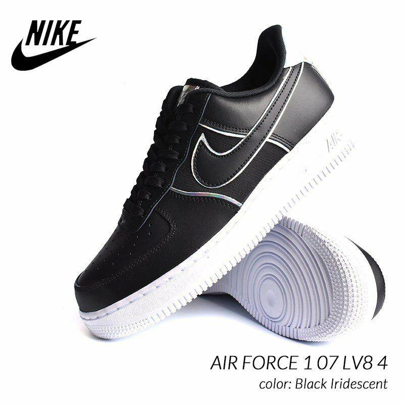 Nike Air Force 1 '07 LV8 4 Uomo Scarpe Nero Iridescente