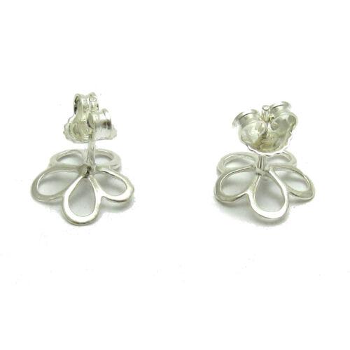 Sterling silver earrings solid 925 Flowers E000684 Empress