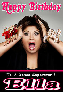 AGE// RELATION 2 NEW /'DANCE MOMS/' A5 SIZE Personalised Birthday Card ANY NAME
