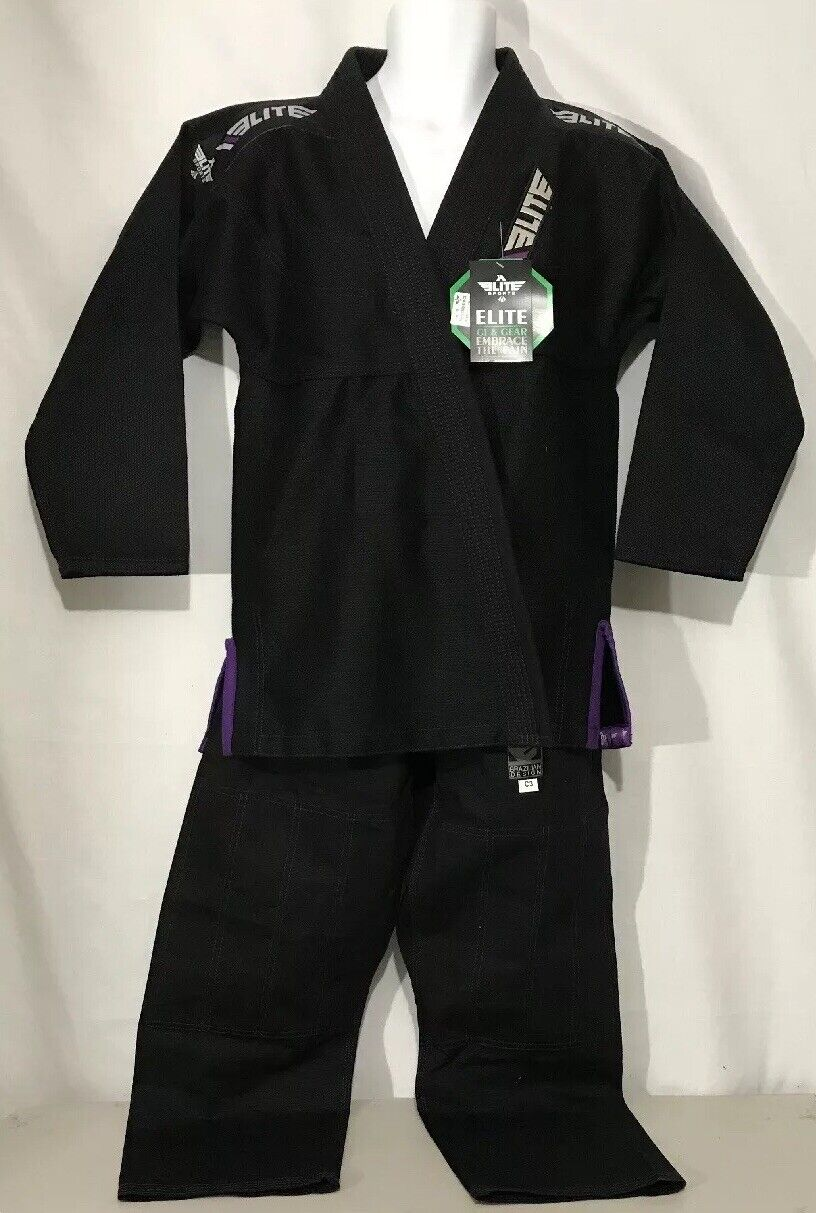 NWT Elite Sport Embrace The Pain Größe C3 Jiu Jitsu, Karate Suit