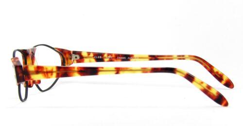 Club LA 5201 Combination Oval Geometric Black Blond Eyeglasses 90s Austria NOS