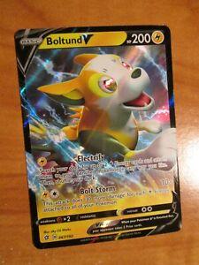 NM-Pokemon-BOLTUND-V-Card-REBEL-CLASH-Set-067-192-Sword-and-Shield-Ultra-Rare