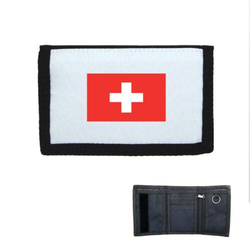 Porte-monnaie à scratch portefeuille drapeau suisse