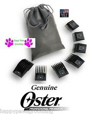 OSTER A5 ATTACHMENT Snap On Guide 7 pc Blade COMB SET*FitMost Andis,Wahl Clipper