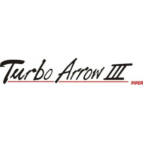 Piper Turbo Arrow III Aircraft Logo,Graphics,Decal