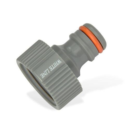 Kunststoff Hahnstück 1//2 Zoll 21mm Hahnverbinder Steckkupplung 51214