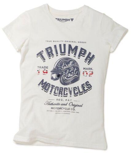 GENUINE TRIUMPH MOTORCYCLE T-SHIRT DEBBIE LADIES TEE
