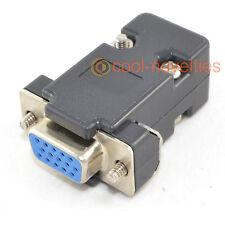 DB15HD 15 WAY D SUB VGA FEMALE HD SOCKET CONNECTOR WITH BLACK HOOD/SHELL