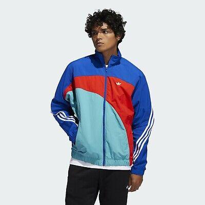 Adidas Originaux Off Centre Veste Coupe Vent Homme Bleu