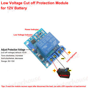 image is loading 12v 10a battery low voltage cut off protection