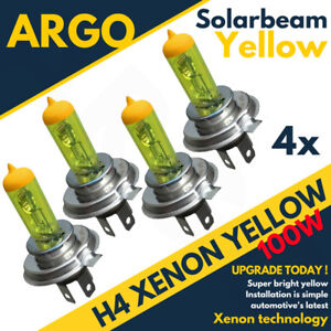 4x-H4-Xenon-Super-jaune-100-W-ampoules-feux-Low-Beam-Headlight-Headlamp-472