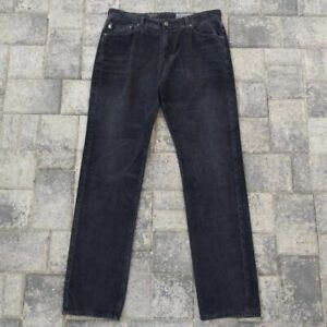 AG Adriano Goldschmied Mens The Graduate Corduroy Straight Jeans Black Faded 33