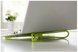Universal lightweight foldable laptop stand in green color