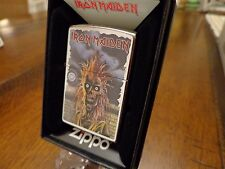 IRON MAIDEN 1980 ALBUM COVER ZIPPO LIGHTER MINT IN BOX 2016