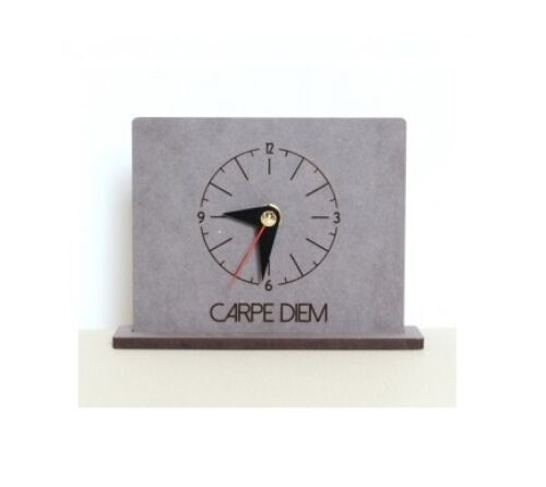 Carpe Diem Wooden Table Desk Clock Modern Art Home Decor Interior Gift Crete2 For Sale Online