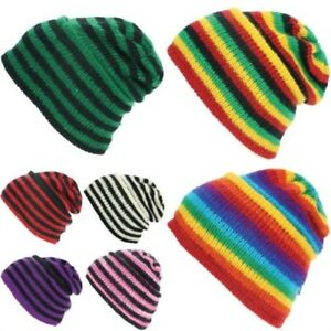 Wool Beanie Hat Cap Warm Winter Fleece Lined LoudElephant RAINBOW ... 0f085f5fb3e