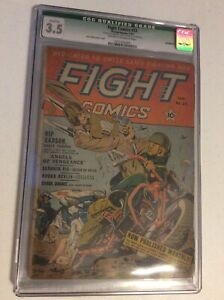 Fiction House Fight Comics #23 CGC 3.5 Qualified 1943 Golden Age FREE SHIPPING