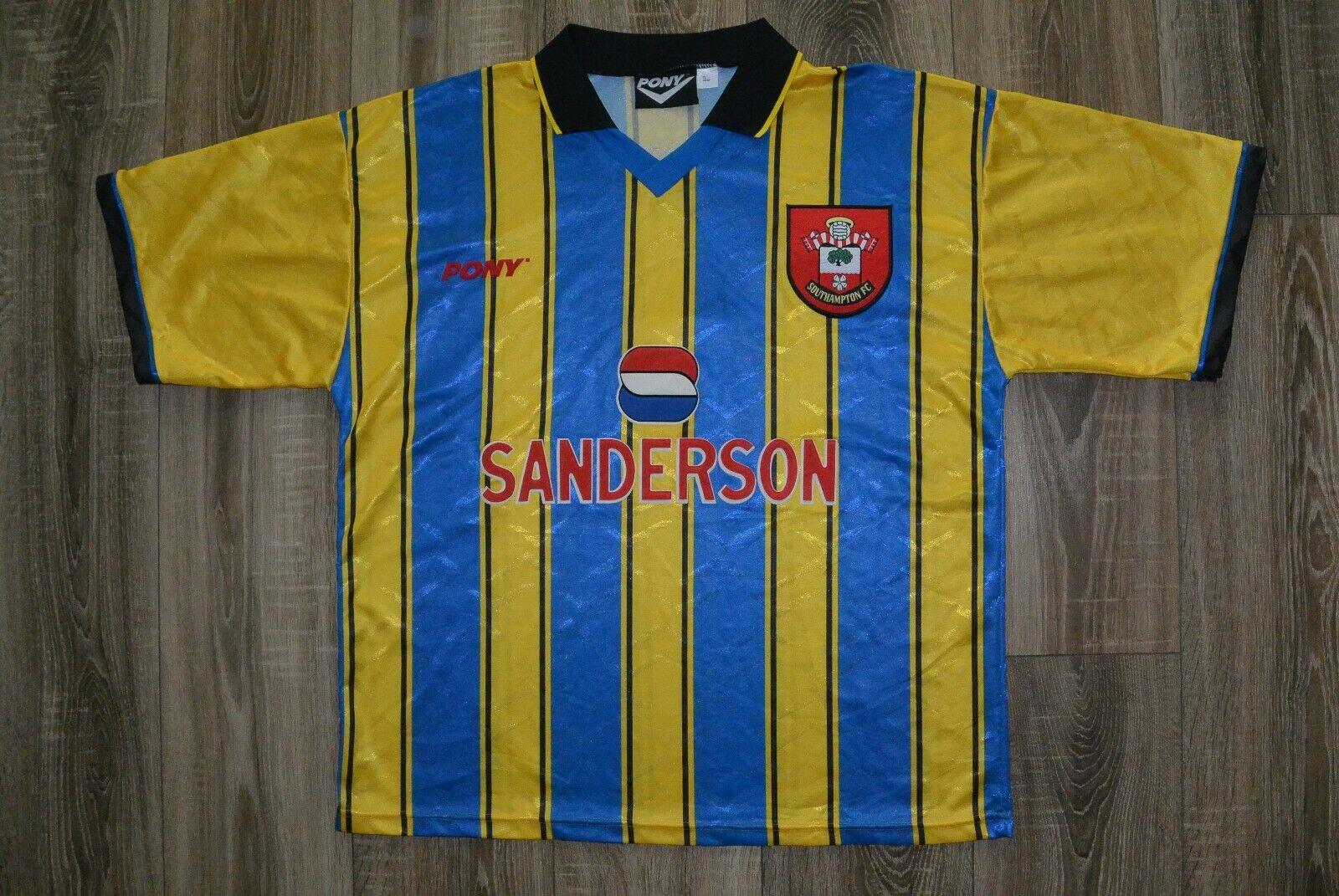 1997 VINTAGE Southampton terza maglia VOCABOLARIO ELETTrossoECNICO internazionale