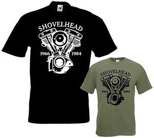 Biker-T-Shirt-SHOVELHEAD-Motorrad-tshirt-Chopper-Bobber-Groessen-S-bis-5XL