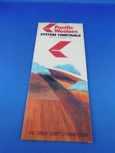 SEPTEMBER-1981-PACIFIC-WESTERN-AIRLINES-SYSTEM-TIMETABLE-ADVERTISING-TRAVEL
