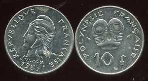 Polynesie Francaise 10 Francs 1983 ( Bis ) Brillant