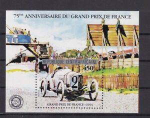 (f) Centrafricaine Bl:153** Voiture Grand Prix De France Car Race