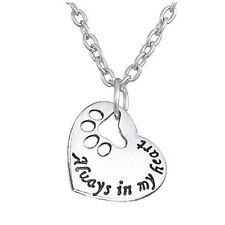 Always In My Heart Dog Cat Paw Silver Plated Pendant Necklace Collier Women Gift