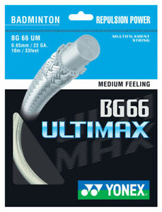 YONEX BG66 Ultimax 0.65 mm Badminton Strings Set 							 							</span>