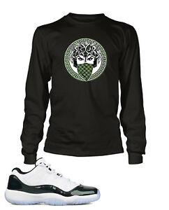 "90b82b49c3a5 Tee Shirt to Match AIR JORDAN 11 LOW ""EMERALD"" Shoe Mens Graphic Pro ..."