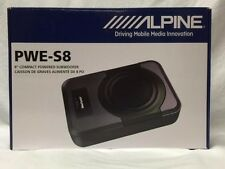 """ALPINE PWE-S8 8"""" 240W MAX COMPACT POWERED BUILT-IN CLASS-D AMPLIFIER SUBWOOFER"""