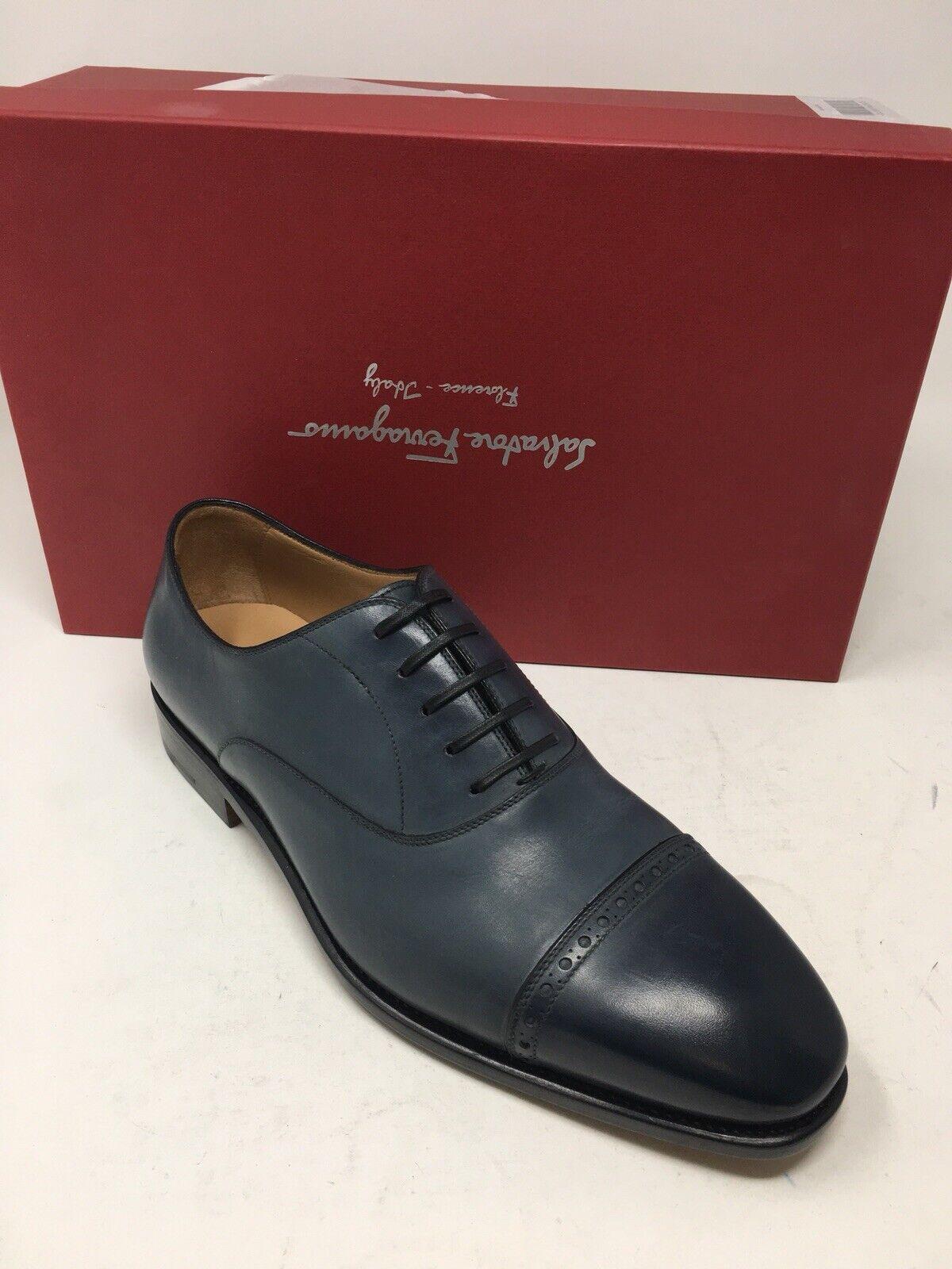 900 Nuovo Salvatore Ferragamo Mens blu  scarpe Tramezza Dimensione 8.5 US 7.5 UK 41.5 EU  colorways incredibili