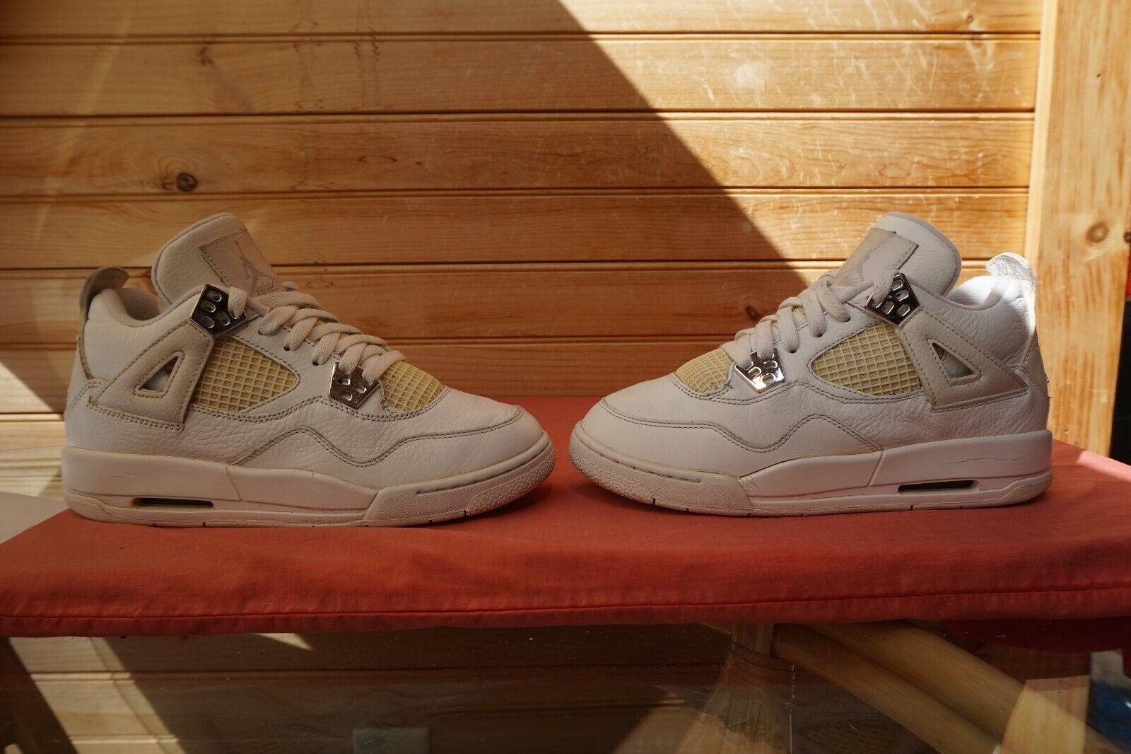 2010 Nike Air Jordan 4 Retro GS  25th Anniversary  Sz 5.5Y (L131) 408452-101
