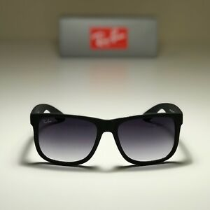 New Ray-Ban Justin Classic Black RB4165 601 8G 54-16 with Grey ... fd09f2f0e5