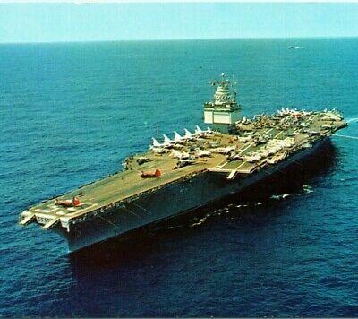 USS DWIGHT D EISENHOWER CVN-69 Aircraft Carrier~Navy military~1970s postcard