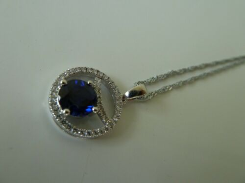 Earrings Free post Pendant 925 Sterling silver Ring Sets 8 Blue Sapphire