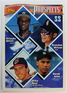 DEREK-JETER-RC-1994-94-TOPPS-BASEBALL-PROSPECTS-ROOKIE-CARD-158-YANKEES-SHARP