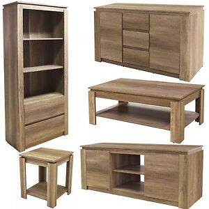 Canyon Oak Living Room Range Furniture Sideboard Lamp Or Coffee Table Bookcase Ebay