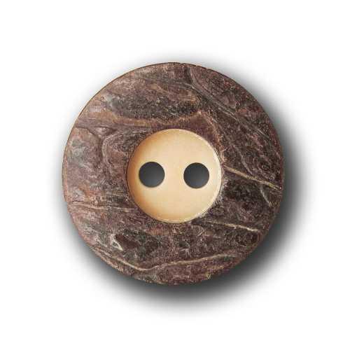 sn008-18mm 5 Beige Marron steinnuss boutons avec Bol en vraie optique