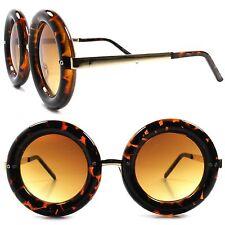 Celebrity Fashion Tortoise & Gold Hot Womens Designer Oversized Round Sunglasses
