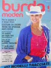 BURDA Moden n°6 1986  - con cartamodelli  - [M11]