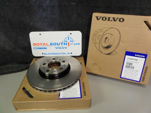 Genuine Volvo S80-V70-S60-XC70 Front Wheel Rotor Set OE OEM 31262706