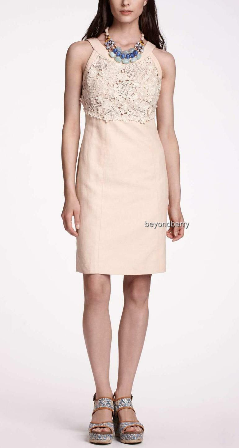 54554a91a63 Anthropologie Oleander Openwork Shift by Size 4   8 Postmark NEW  oxjcfu10381-Dresses