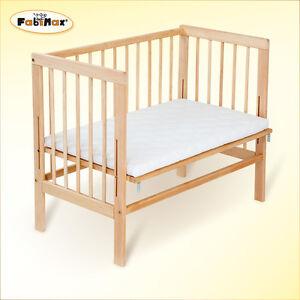 fabimax beistellbett basic natur mit matratze ebay. Black Bedroom Furniture Sets. Home Design Ideas