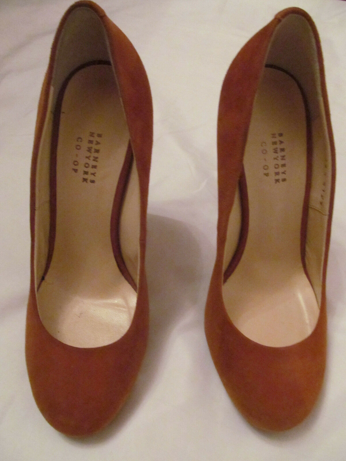 BARNEYS pumps NEW YORK CO OP PUMPKIN suede leather stiletto pumps BARNEYS shoes 36.5 WORN ONCE 62eb75
