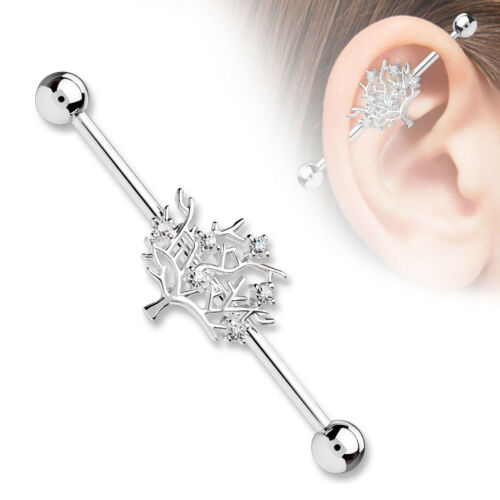 Details about  /Tree of Life Surgical Steel Industrial Barbells Surgical Steel Industrial T262